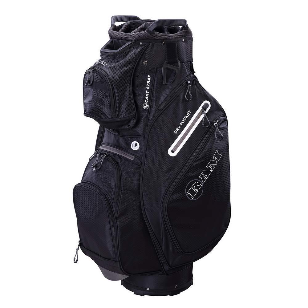 【限定品】 RAM フルレングス Golf FX デラックス ゴルフカートバッグ ブラック 14ウェイ フルレングス 仕切り B07JM7S6M3 デラックス ブラック ブラック, オーダー収納スタイル:06d3717e --- arianechie.dominiotemporario.com