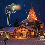Christmas Projector Light Star Night Shower Light Outdoor& Indoor Waterproof Light Lawn Light Projector with Remote Control
