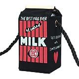 Creazy® Girls Women Milk Cartoon Canvas Shoulder Bag