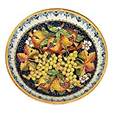 italian pasta bowls made in italy - CERAMICHE D'ARTE PARRINI - Italian Ceramic Art Pottery Bowl For Fruit ,Salad, Pasta Hand Painted Made in ITALY Tuscan
