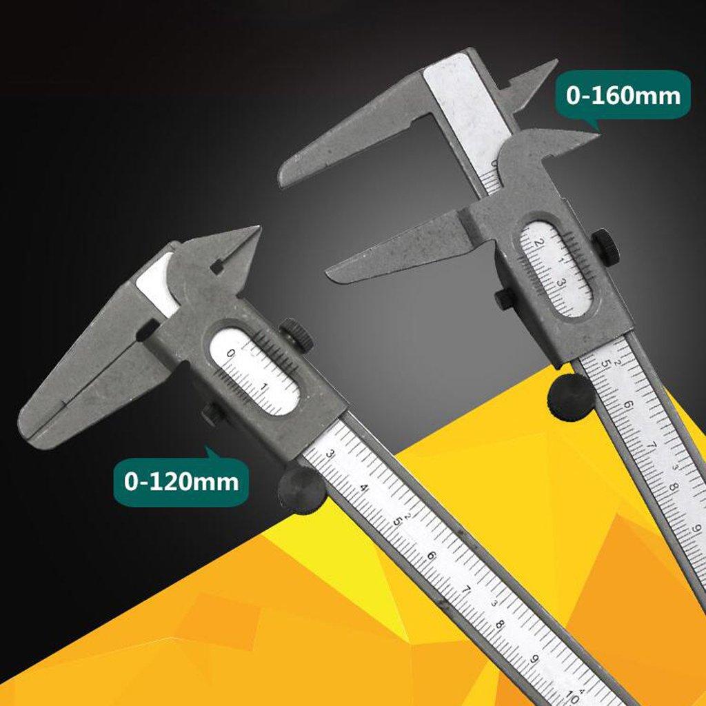 0-120mm Silver depth and step measurements outside measuring device for inside Homyl Professional Quality Stainless Steel Vernier Caliper Non-Digital Vernier Caliper