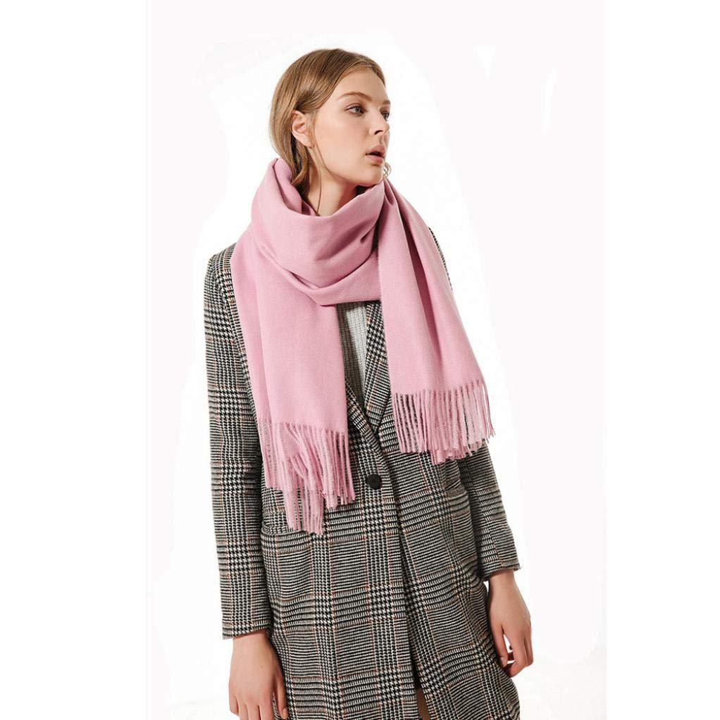 Boomdan Womens Large Soft Imitation cashmere Feel Shawls Wraps Light Scarf Multifunctional warm shawl (Pink) by Boomdan (Image #5)