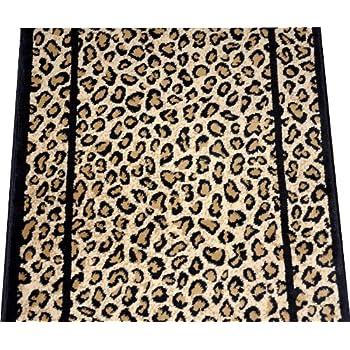 Amazon Com Dean Cheetah Carpet Rug Hallway Stair Runner