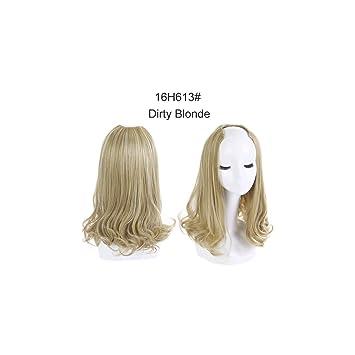 Amazon.com : 16\' Short Curl Blonde U Part