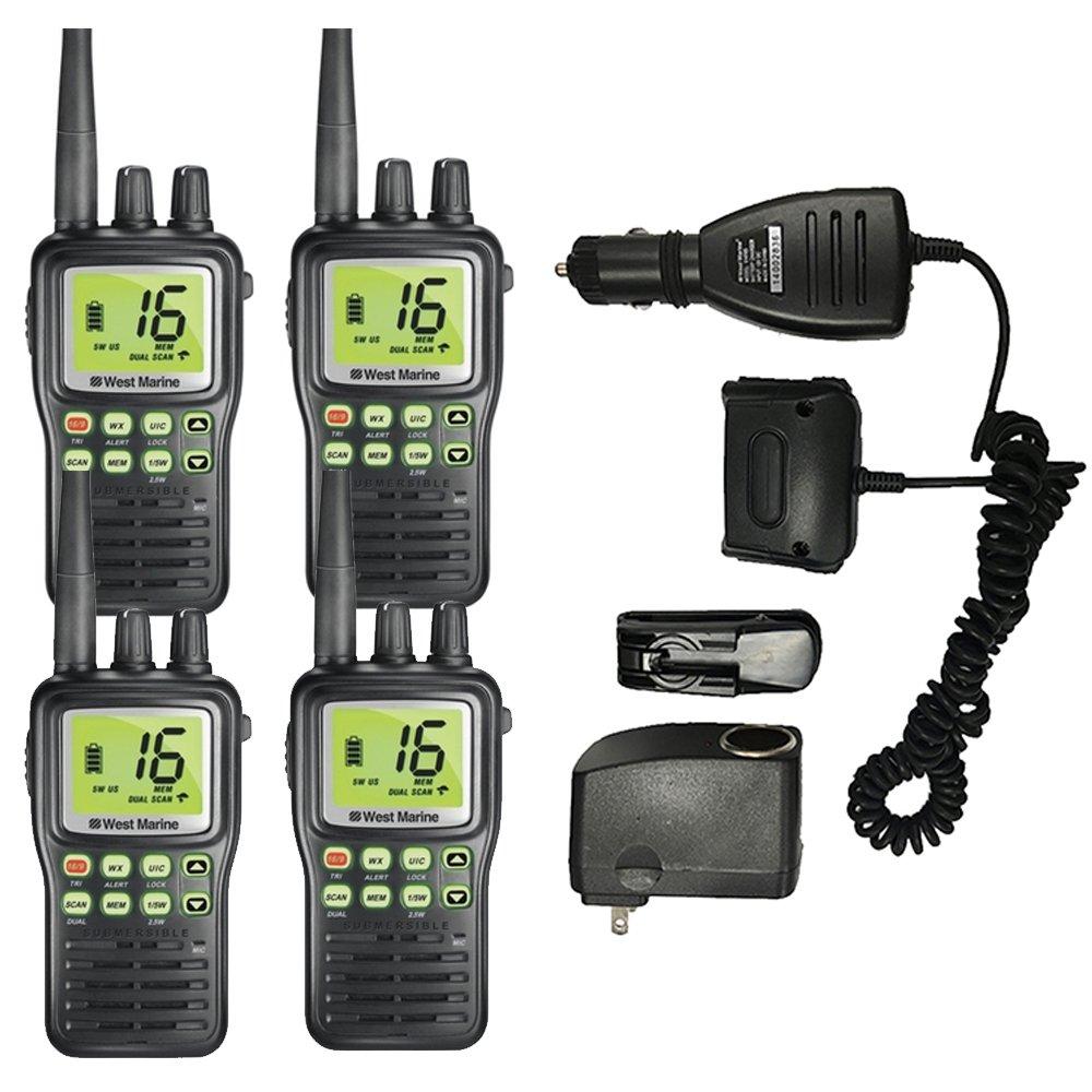 WEST MARINE VHF85 Handheld VHF Radio (4-Pack) (Certified Refurbished)