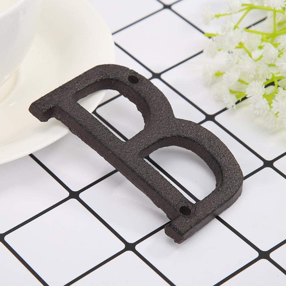 T/ürzeichen Rue Hausnummer mit Befestigungsschraube Domybest Haus-Alphabet aus Metall Buchstaben
