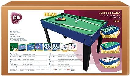 ColorBaby Mesa multijuegos 12 en 1 CB Games, 124x105x83 cm (45596 ...