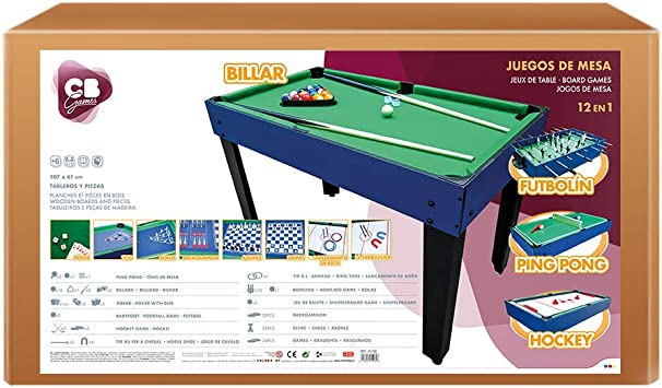 ColorBaby - Mesa de billar multijuegos 12 en 1 CB Games (45596 ...