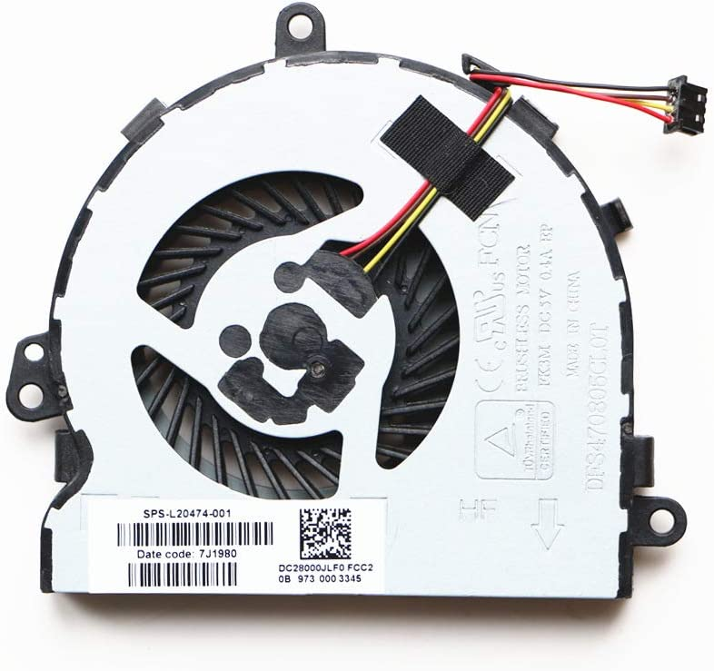 NBFAN Laptop Replacement Cooler Fan for HP 250 G7 255 G7 256 G7 15-DA 15-DB CPU Cooling Fan L20474-001
