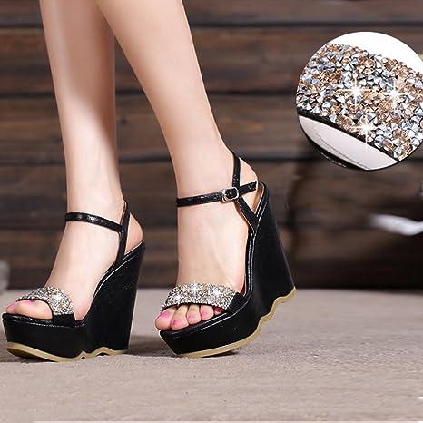 Meng Wei Shop Scarpe estive nuove di zecca pendenza della moda con sandali  impermeabili con zeppa c9c56d70951