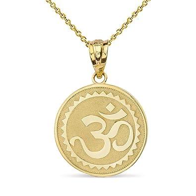 Amazon.com: Oro amarillo de 10 K hindú de meditación, yoga ...