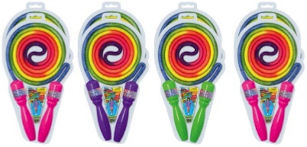 - Toys 23387 JA-RU Rainbow Jump Rope Party Favor Bundle Pack of 8 Ja-Ru Inc