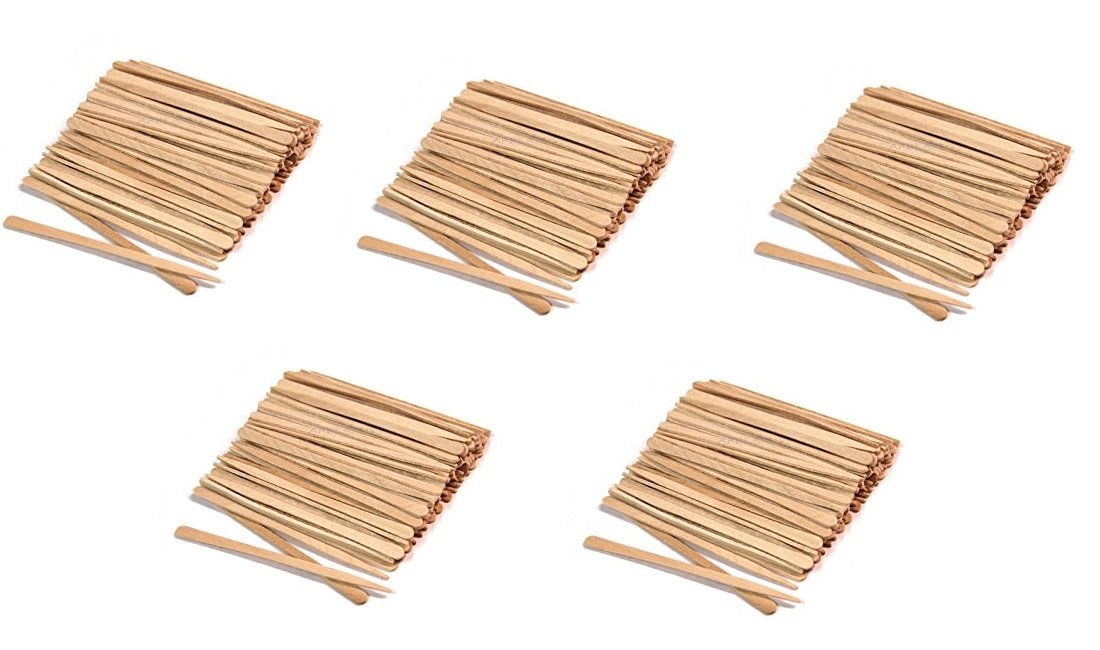 Round 5 1/2 x 3/16 Wood Wax Applicator Stick 500ct WW-W140J (5 Pack of 100ct)