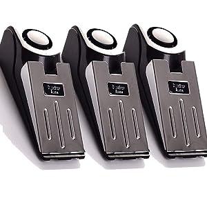 3-Pack Upgraded Door Stop Alarm -Great for Traveling Security Door Stopper Doorstop Safety Tools for Home Set of 3