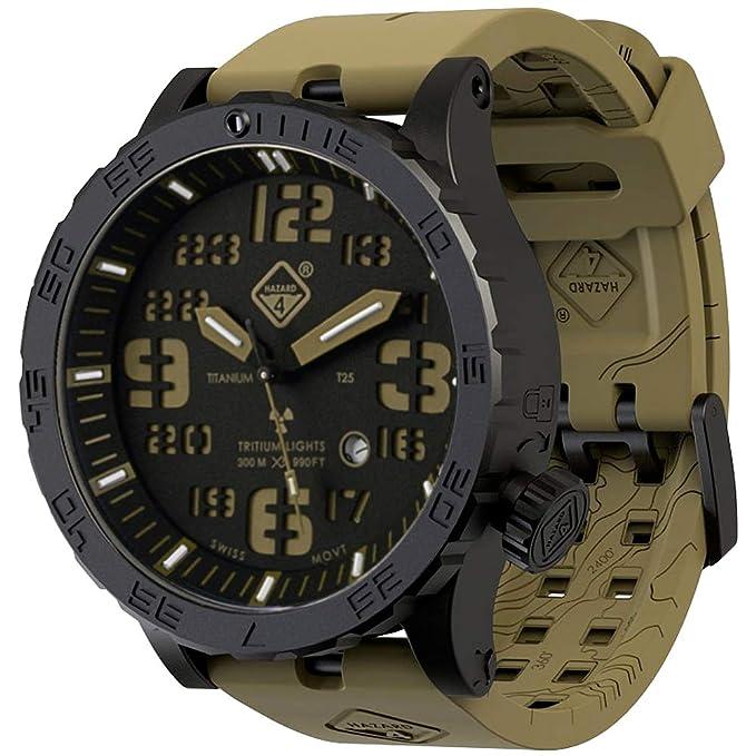 Hazard 4 Heavy Water Diver Titanium Tritium Watch Cavern Verde/Amarillo: Amazon.es: Ropa y accesorios