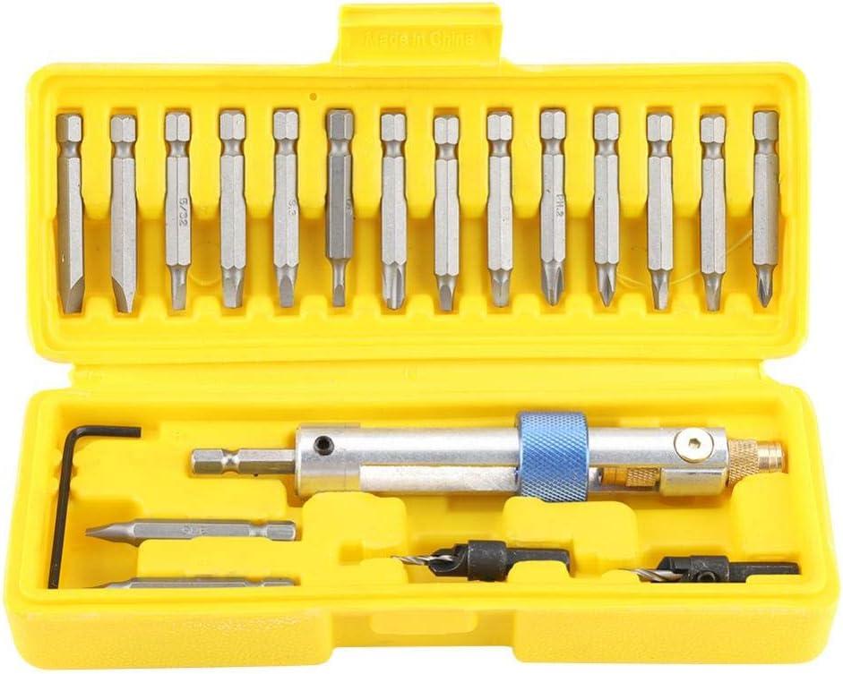 Zerodis 20Pcs Drill Screwdriver Satz Drill Driver Head Screwdriver Tool Kits Professional Bits Power Tool Accessories