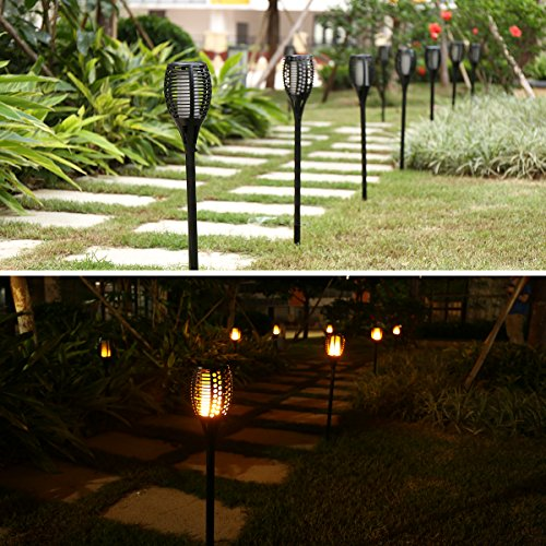 Porch Light Flickers When Off: AICEDA Solar Lights,Waterproof Flickering Flames Torches