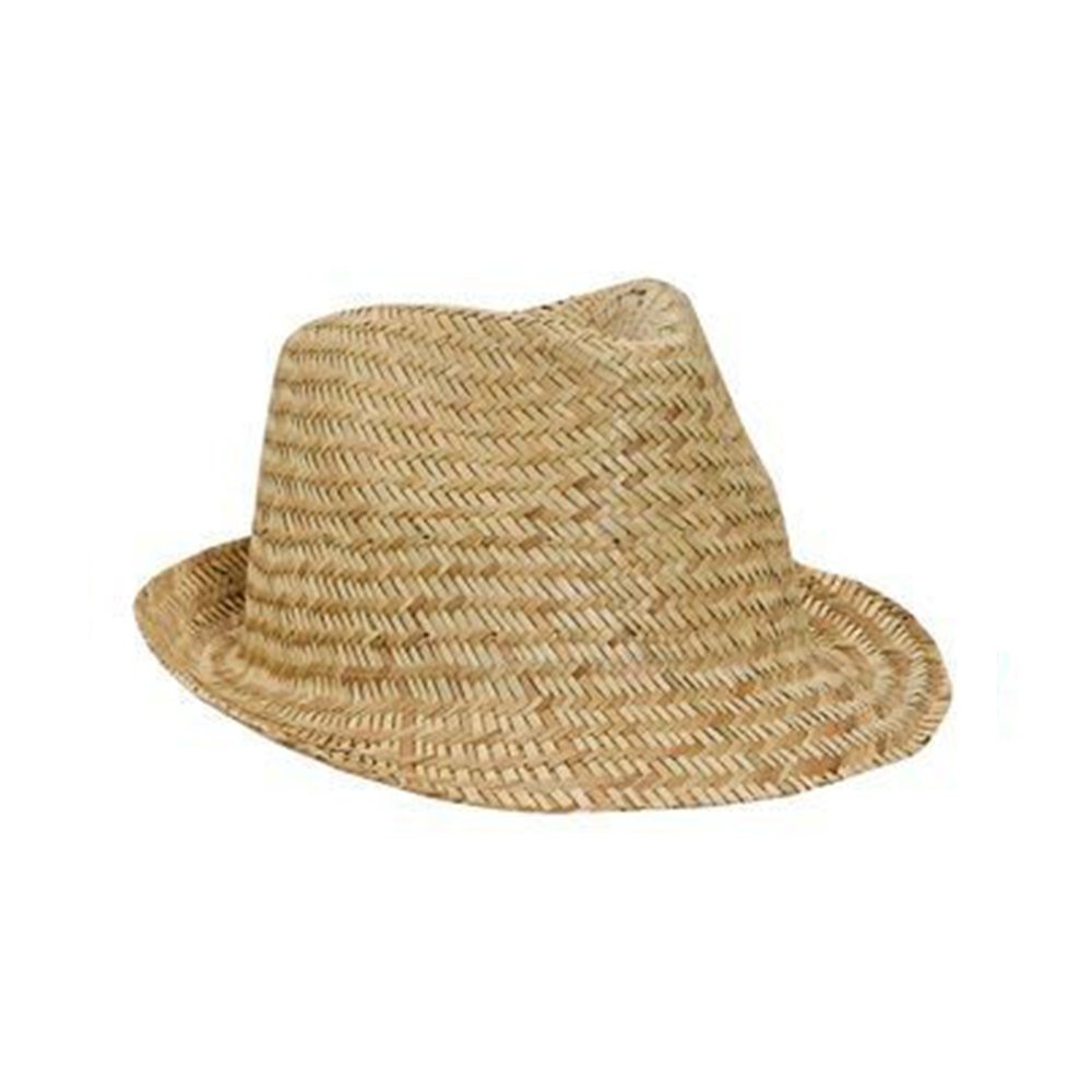 9ea4f3e12bd70 Men s Natural Straw Pre-Curved Fedora Hats at Amazon Men s Clothing store