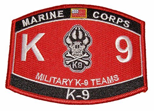 (United States Marine Corps MOS Marine K-9 Military Teams MOS Military Patch - Veteran Owned Business)