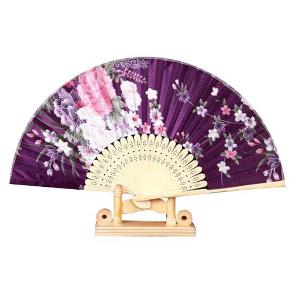 Panda Superstore Folding Fans for Women Colorful Pattern 8.27''(21cm) Holding Painted Fan