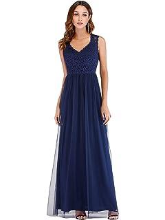 03cbd7d4d576 Ever Pretty Women's V Neck Lace Ball Gown Long Tulle Evening Dresses 07509