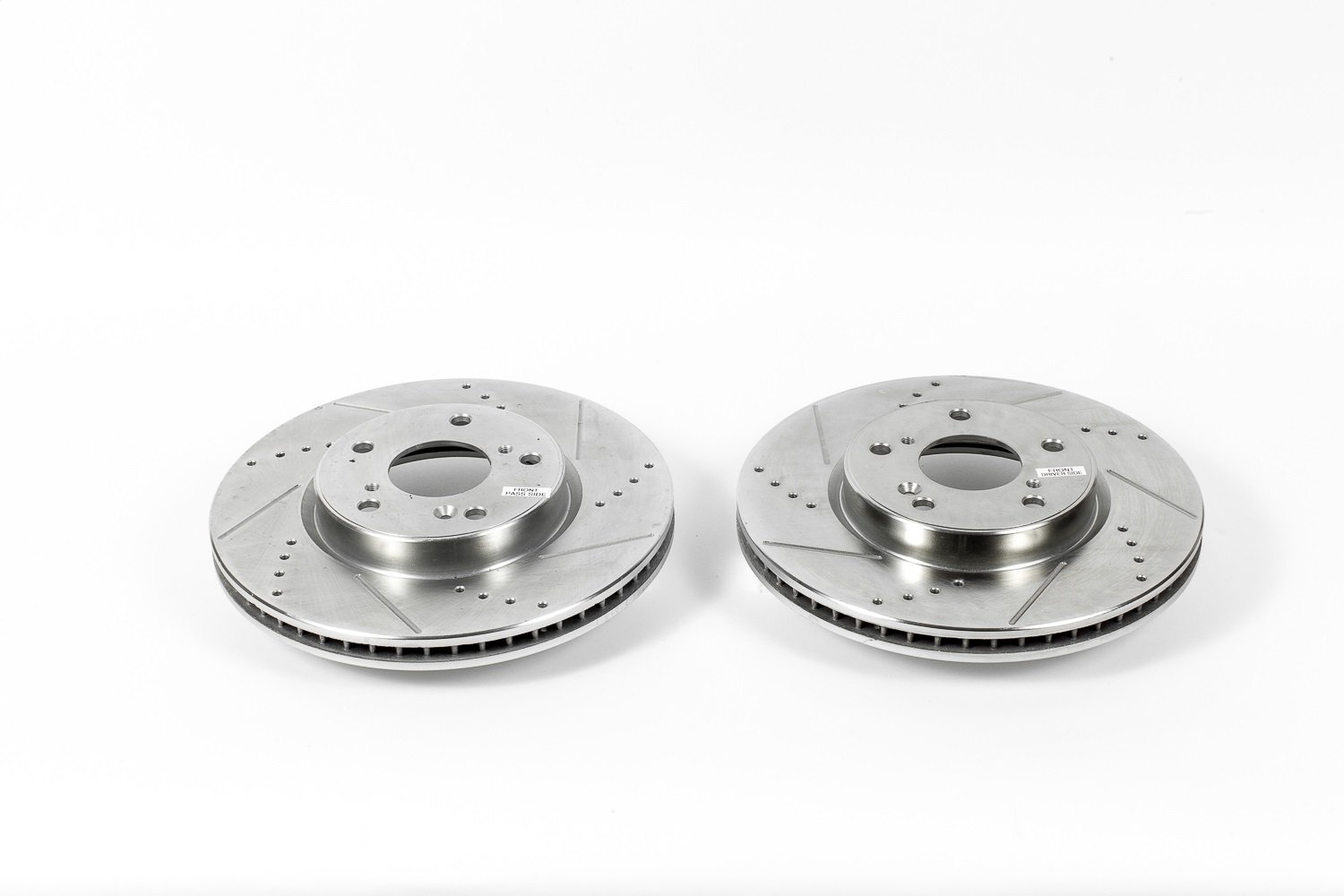 Pair Power Stop JBR1571XPR Evolution Drilled and Slotted High Performance Front Rotor