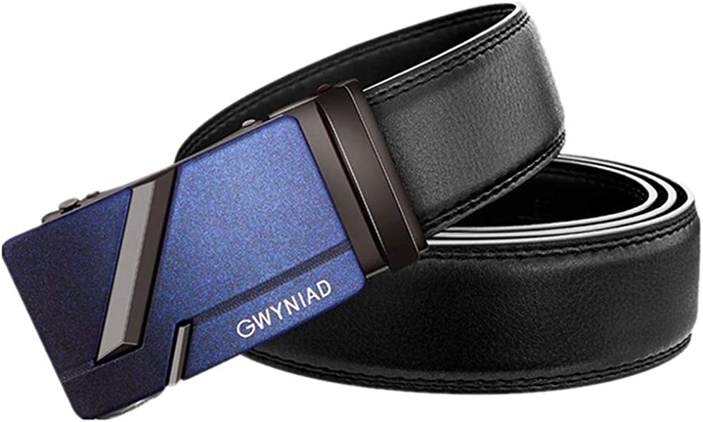 ZHANG CHENGFU Mens Fashion Leather Automatic Buckle Business Casual Trend Belt