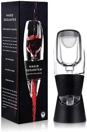 Queta - Decantador de vino tinto acrílico rápido mágico con base ...
