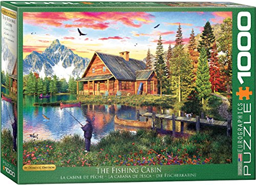 EuroGraphics The Fishing Cottage 1000-Piece Puzzle Jigsaw (1000 Piece)