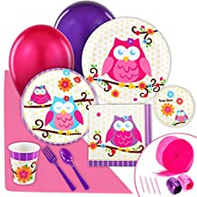 Owl Blossom Party Supplies - Value Party Pack