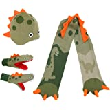 Kidorable Boys' Little Dino Hat Scarf Mittens Set