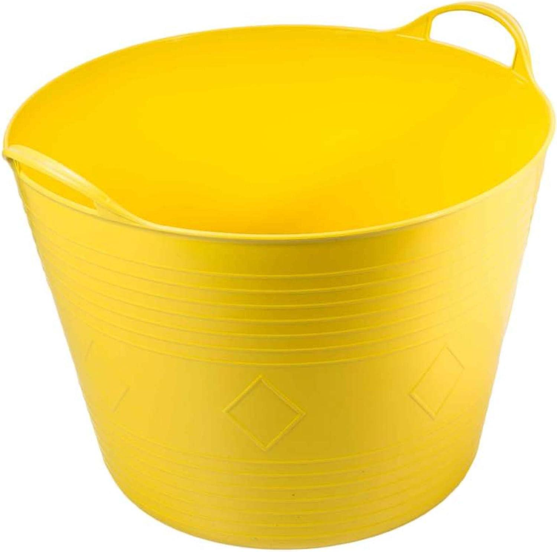 Super Clean 07903-Secchio flessibile con manico colore 43 L giallo lunghezza