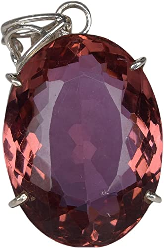1 CT Oval Color Changing Alexandrite Sterling Silver Pendant