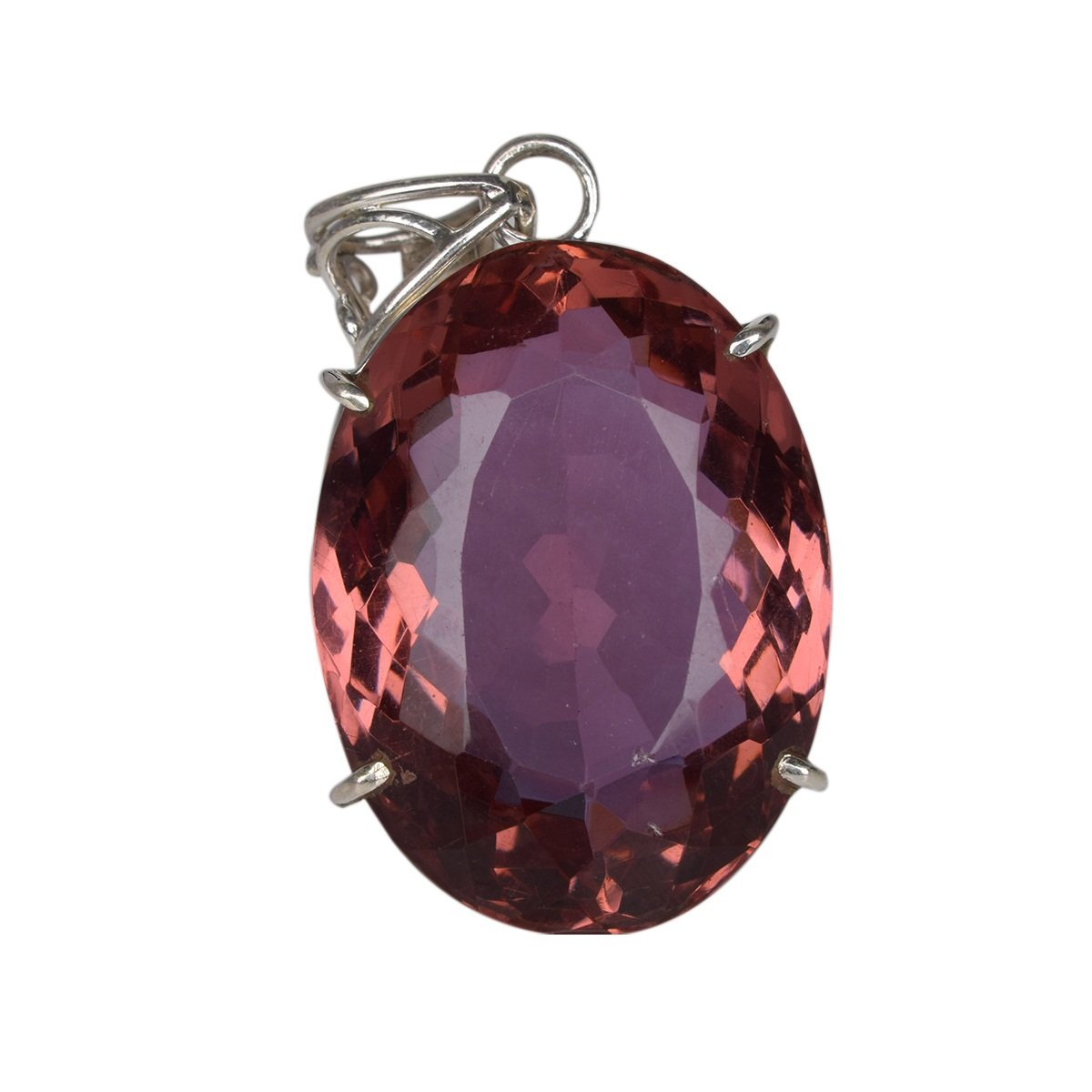 Oval Cut Color Change Alexandrite Necklace for Any Occasion DO-740 Gemhub Beautiful Alexandrite Necklace 97.35 Ct