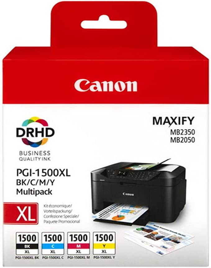 Canon Original Canon Maxify Mb 2050 Pgi 1500 Xlcmybk 9182 B 004 Tintenpatrone Multipack Schwarz Cyan Magenta Gelb Bürobedarf Schreibwaren