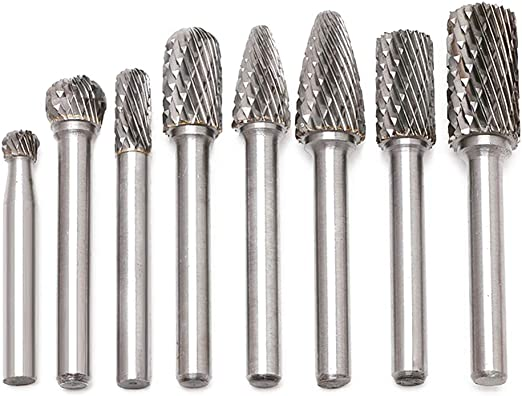 Tungsten Carbide Wood Cutting Carving Milling Grinding Rotary File Burr Bits Kit