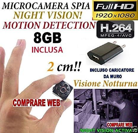 Adapter-Universe - sq8 habitaciones Luz Full HD de movimiento detección cámara oculta + SD 8 GB CW150: Amazon.es: Electrónica
