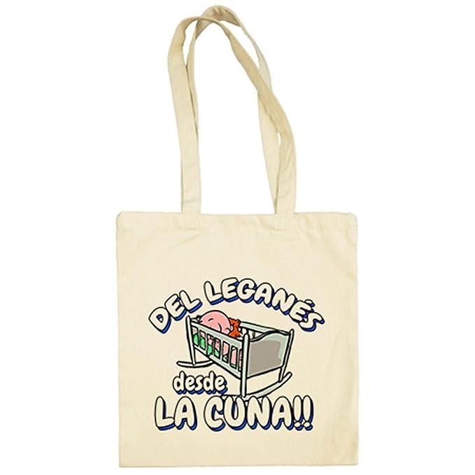 Bolsa de tela del Leganés desde la cuna fútbol - Beige, 38 x 42 cm