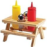 PICNIC TABLE CONDIMENT SET – WOOD