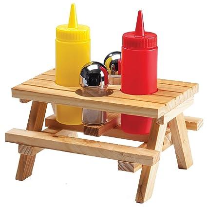 Amazoncom Picnic Table Condiment Holder Condiment Pots - Condiment holder for table