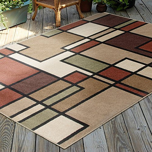 Orian Rugs Four Seasons Indoor/Outdoor Thorburn Rawhide Area Rug, 5'2