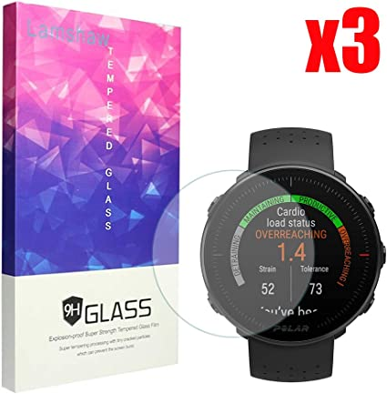 2.5D 9H Hardness Screen Protector for Polar Ignite Smartwatch Suoman 4-Pack for Polar Ignite Screen Protector Tempered Glass