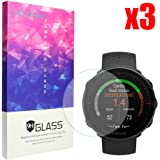 for Polar Vantage M Screen Protector, Lamshaw 9H Tempered Glass Screen Protector for Polar Vantage M Smartwatch (3 Pack)