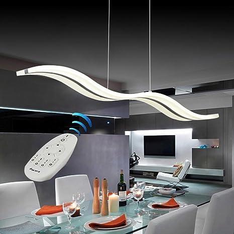 Lampadario A Led Moderno.Vi Xixi Lampadario Led Dimmerabile Moderno Regolabile In Altezza Telecomando Per Sala Da Pranzo Soggiorno