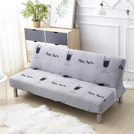 Poliester Funda de sofá sin brazos,Antideslizante Funda elástica,Fundas de sofá 1 pieza