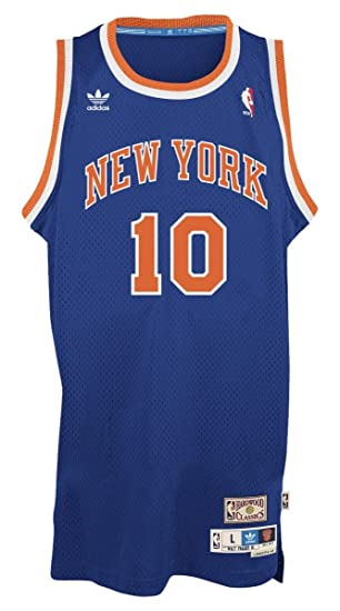 906817da adidas Walt Frazier New York Knicks NBA Throwback Swingman Jersey - Blue