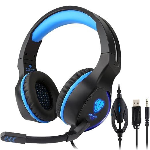 PS4 Auriculares Gaming Headset Fodlon BUTFULAKE SL-100 Auriculares Estéreo para PS4/ PC/