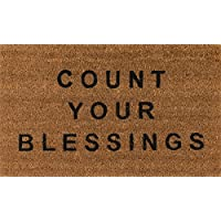 Novogratz Aloha Collection Count Your Blessings Doormat, Natural, 16 x 26, Natural Brown