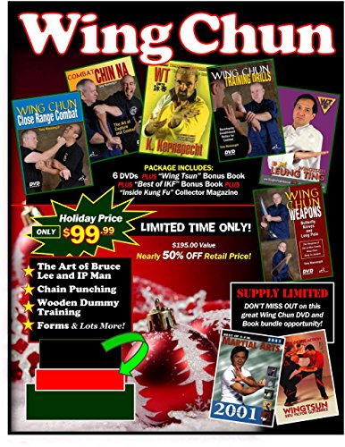 Wing Chun Kung Fu Gift Set 6 DVDs + 2 Books & Collectible Magazine $195 Value ()