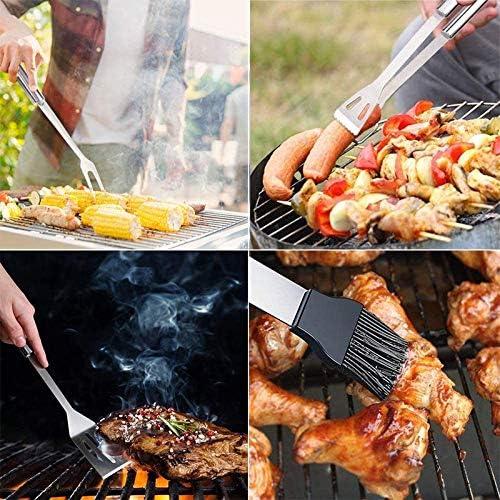 Naliovker 20PCS BBQ Grill Accessoires Outils Set, Kit de Grillage en Acier Inoxydable avec éTui en Tissu Oxford pour Camping/Cuisine, Ustensile de Barbecue pour Hommes Femmes
